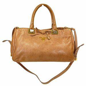 PRADA CROSSBODY BAG BEIGE LEATHER 942228